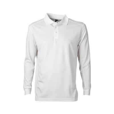 Polera dry fit manga larga hombre blanco M