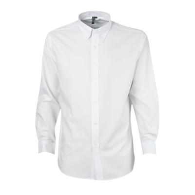 Camisa oxford manga larga blanco S