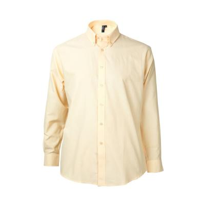 Camisa oxford manga larga amarillo medio S