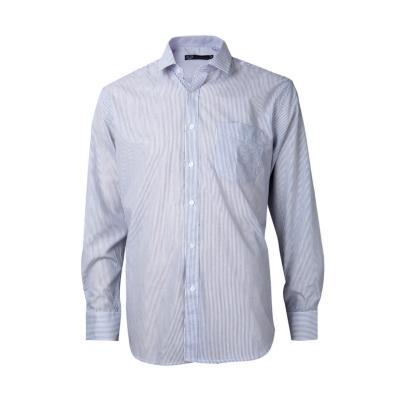 Camisa fantasía comfort manga larga celeste 44