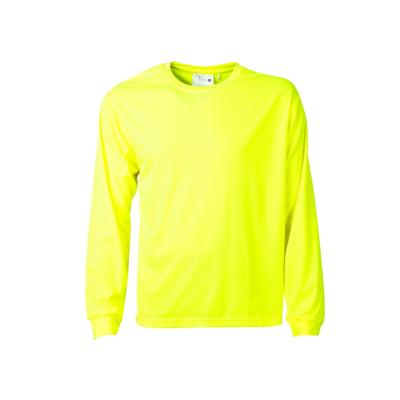 Polera cuello polo manga larga fluor amarillo fluor M