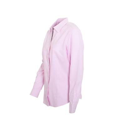Blusa oxford manga larga rosado medio XS