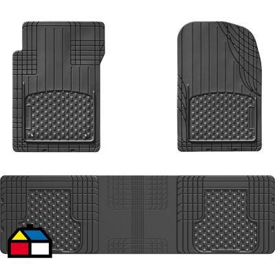 Jueg de Pisos Universales Recortables de 3 piezas negro