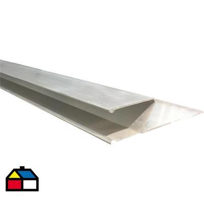 Regla aluminio perfil H abierto 2 m