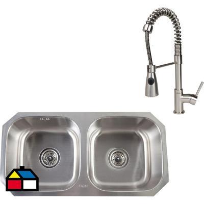 Kit Pio Square + lavaplato 2 cubetas