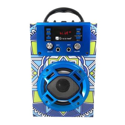 Parlante karaoke portátil bluetooth/radio fm/usb