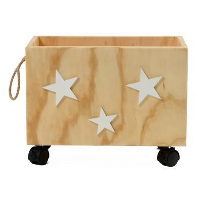 Caja organizadora infantil con ruedas estrellas