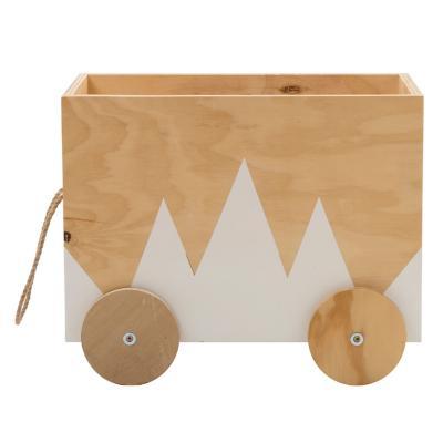 Caja organizadora infantil con ruedas andes madera