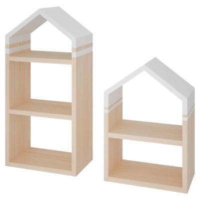 Set 2 repisas diseño casita