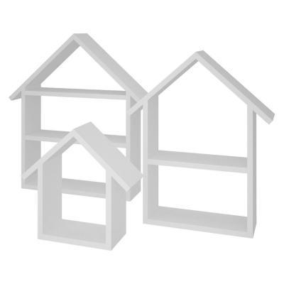 Set 3 repisas diseño casita