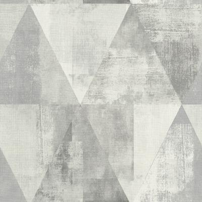 Papel mural triangulo gris