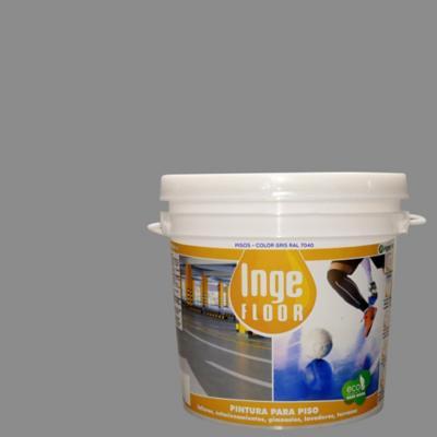 Pintura para piso base agua 1 gl gris