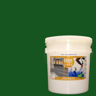 Pintura para piso base agua 4 gl verde