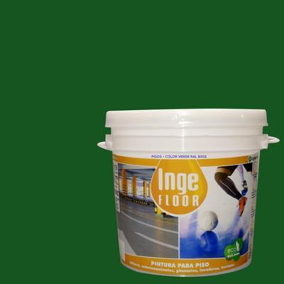 Pintura para piso base agua 1 gl verde