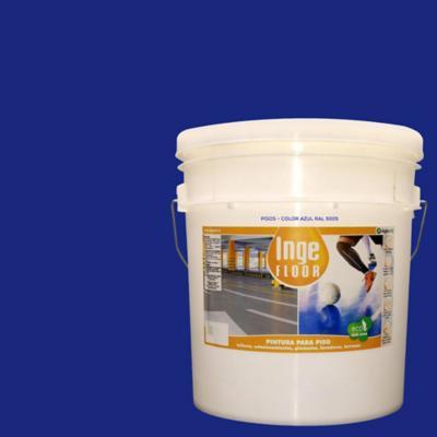 Pintura para piso base agua 4 gl azul