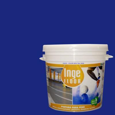 Pintura para piso base agua 1 gl azul
