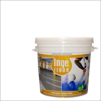 Pintura demarcación base agua 1 gl blanco
