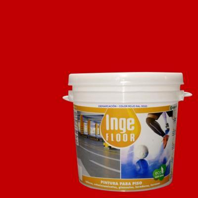 Pintura demarcación base agua 1 gl rojo