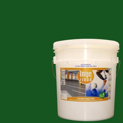 Pintura multicancha base agua 4 gl verde claro