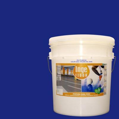 Pintura multicancha base agua 4 gl azul oscuro