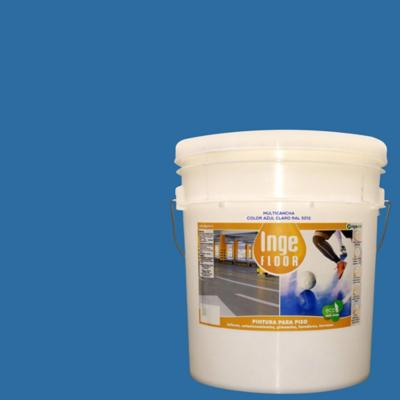 Pintura multicancha base agua 4 gl azul claro