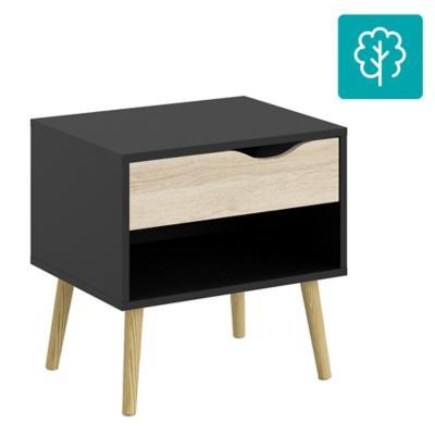 Velador 1 cajón 50x39x49 cm Negro