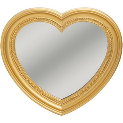 Espejo corazón 40x45 cm dorado