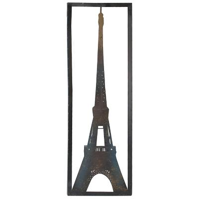 Cuadro torre eiffel metálico 90x30cm negro