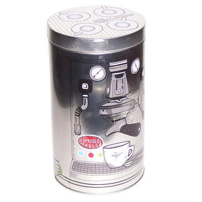 Caja redonda lata 11x19cm café