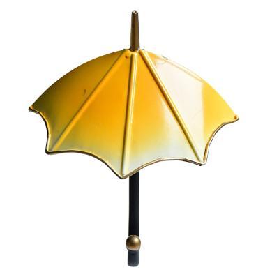 Perchero metálico 1 gancho paragua amarillo