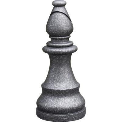 Figura ajedrez Alfil 16x36 cm negro