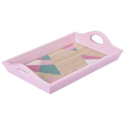 Bandeja madera rosado 22x15 cm