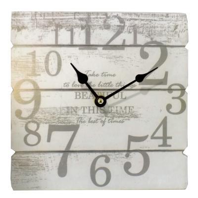 Reloj de pared 20 cm madera blanco