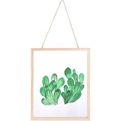 Cuadro colgante cactus 20x25 cm