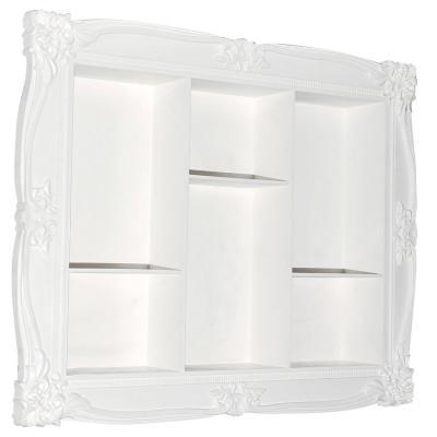 Repisa plástica 40x50 cm blanco