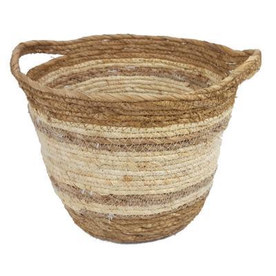 Canasto de fibra natural blanco