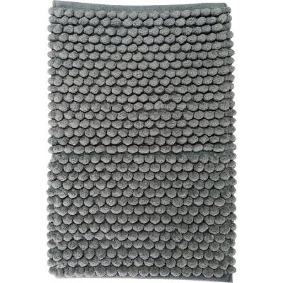 Piso baño algodón 40x60 cm gris
