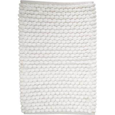 Piso baño algodón 40x60 cm blanco
