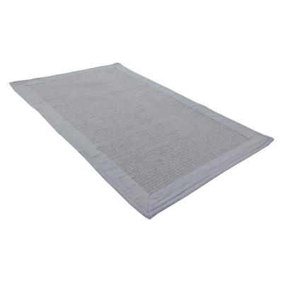 Piso baño algodón 50x80 cm gris