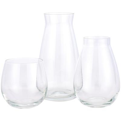 Set de 3 floreros de vidrio modelo Bulb