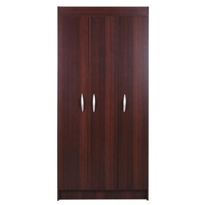 Closet 3 puertas pasco 170x79x38 cm café