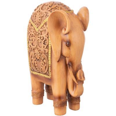 Elefante resina color café de 22 cm