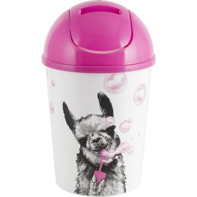 Papelero 4 l plástico Pink