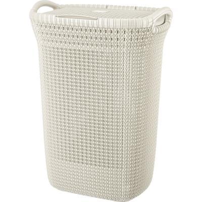 Cesto khipu 60 litros ratán plástico blanco