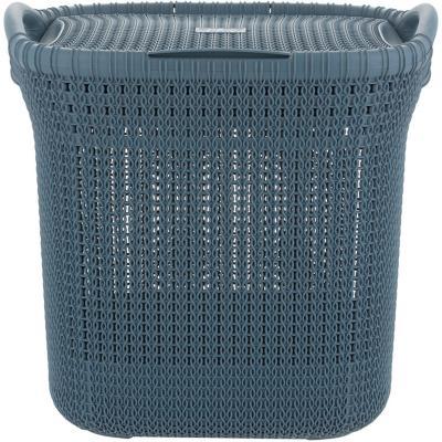 Cesto khipu 40 litros ratán plástico azul