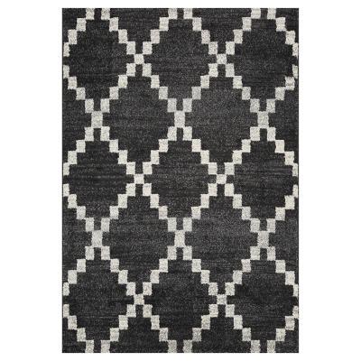 Alfombra doux shaped 133x190 cm gris