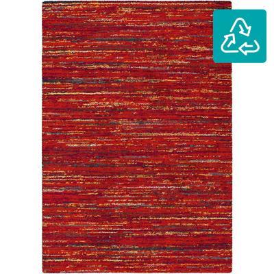 Bajada de cama shaggy sherpa colores 69x115 cm rojo