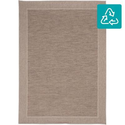 Alfombra Indy border 160x230 cm beige