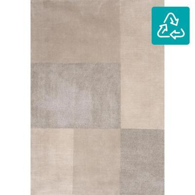 Alfombra siroc cuadros 160x230 cm gris/beige