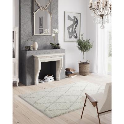 Alfombra pasillo shaggy Emma tri 60x200 cm beige